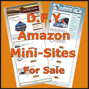 Amazon Mini-Site Sale